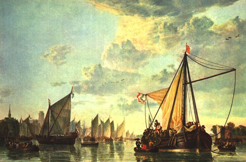 The Maas at Dordrecht 1660 | Aelbert Cuyp | oil painting