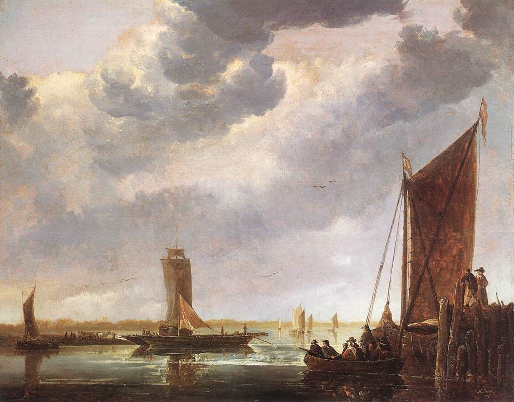 The Ferry Boat 1652 1655 | Aelbert Cuyp | oil painting