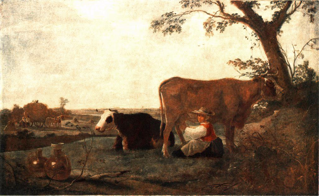 The Dairy Maid 1650 | Aelbert Cuyp | oil painting