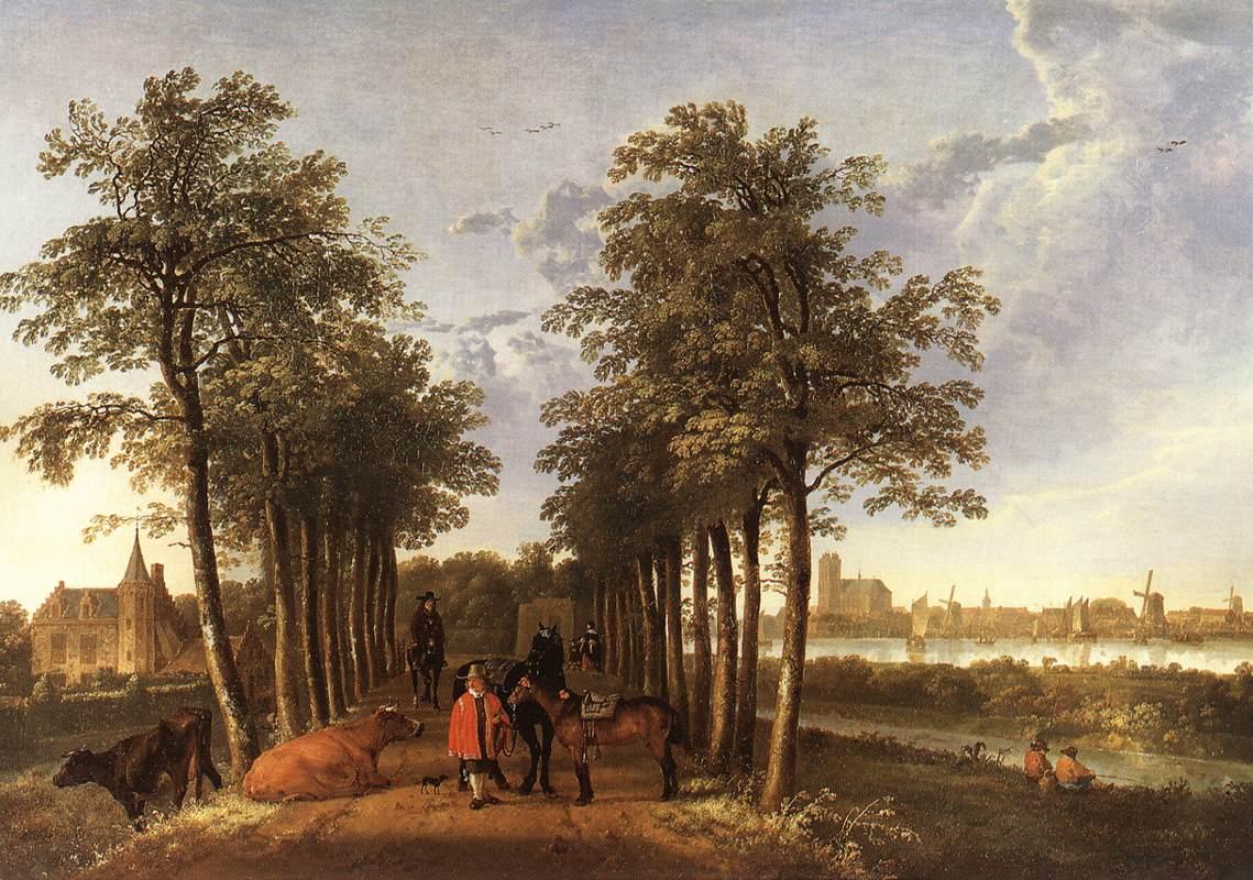 The Avenue at Meerdervoort 1650 1652 | Aelbert Cuyp | oil painting