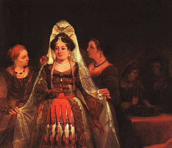 The Jewish Bride (Esther Bedecked)  1684 | Aert de Gelder | oil painting