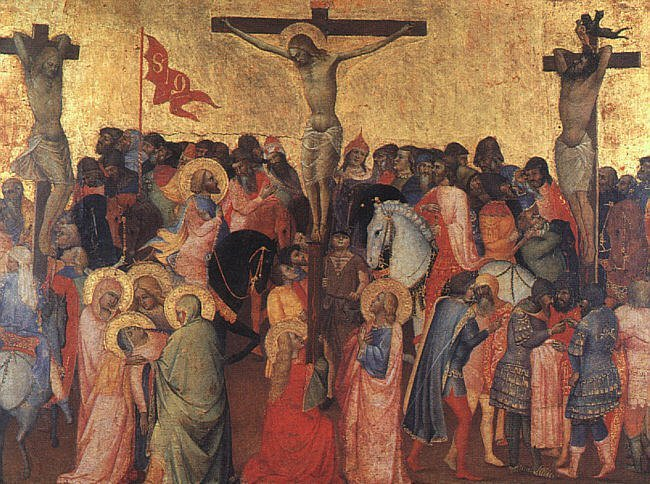 Crucifixion 1390 1396 | Agnolo Gaddi | oil painting