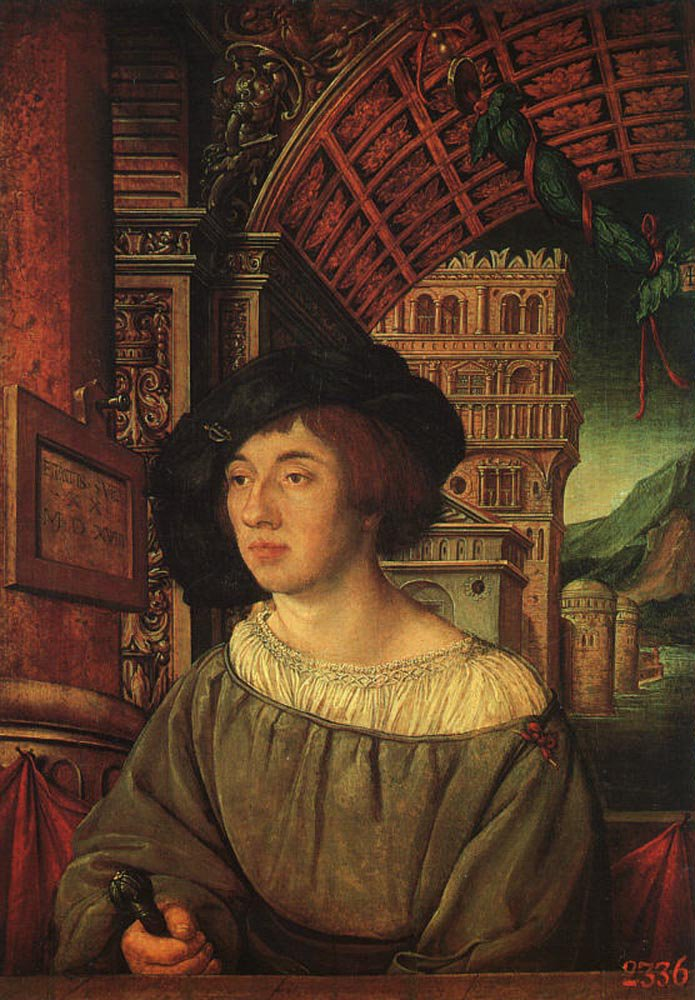 Portrait of a Young Man 1518 | Ambrosius Holbien | oil painting