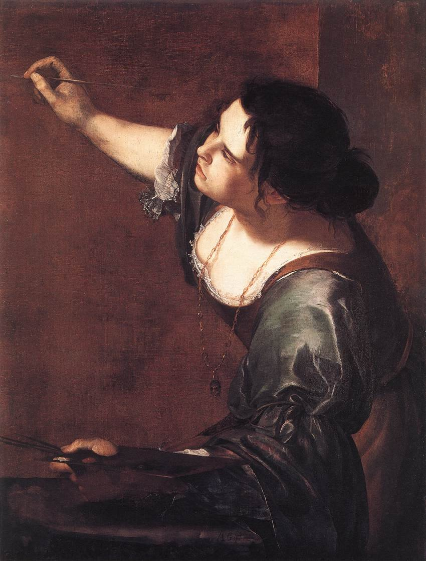 Self Portrait as the Allegory of Painting 1630 | Artemisia Gentileschi | oil painting