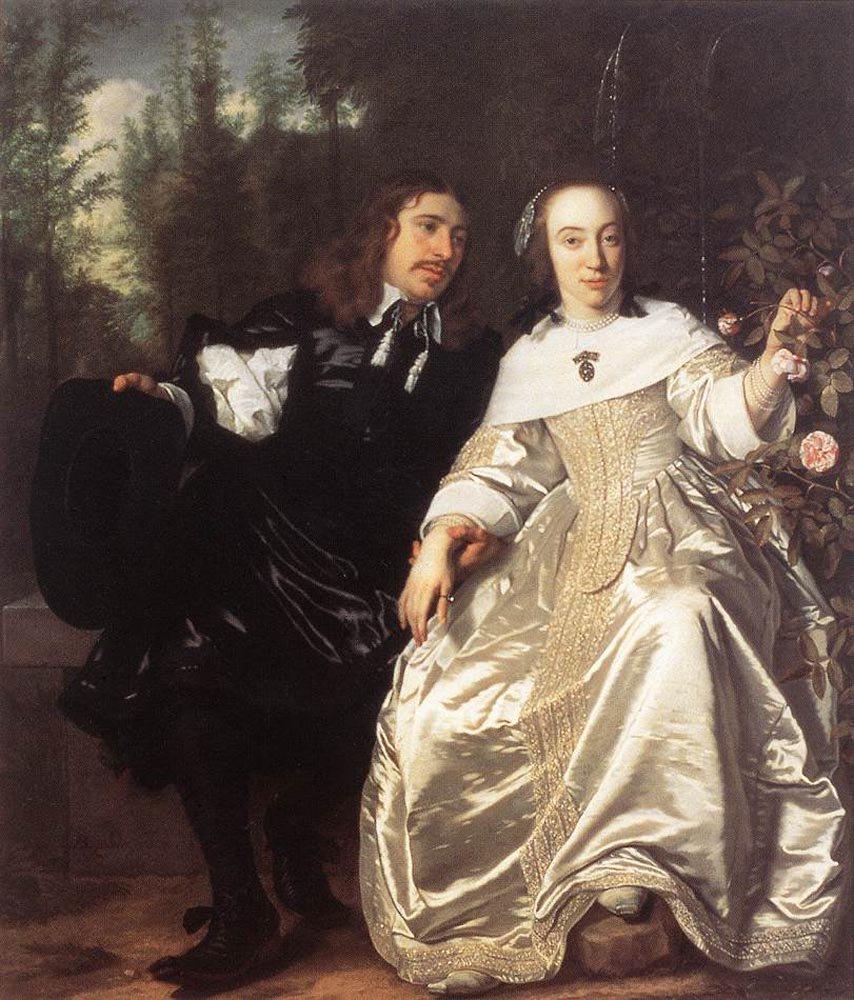 Abraham del Court and Maria de Keersegieter 1654 | Bartholomeus van der Helst | oil painting