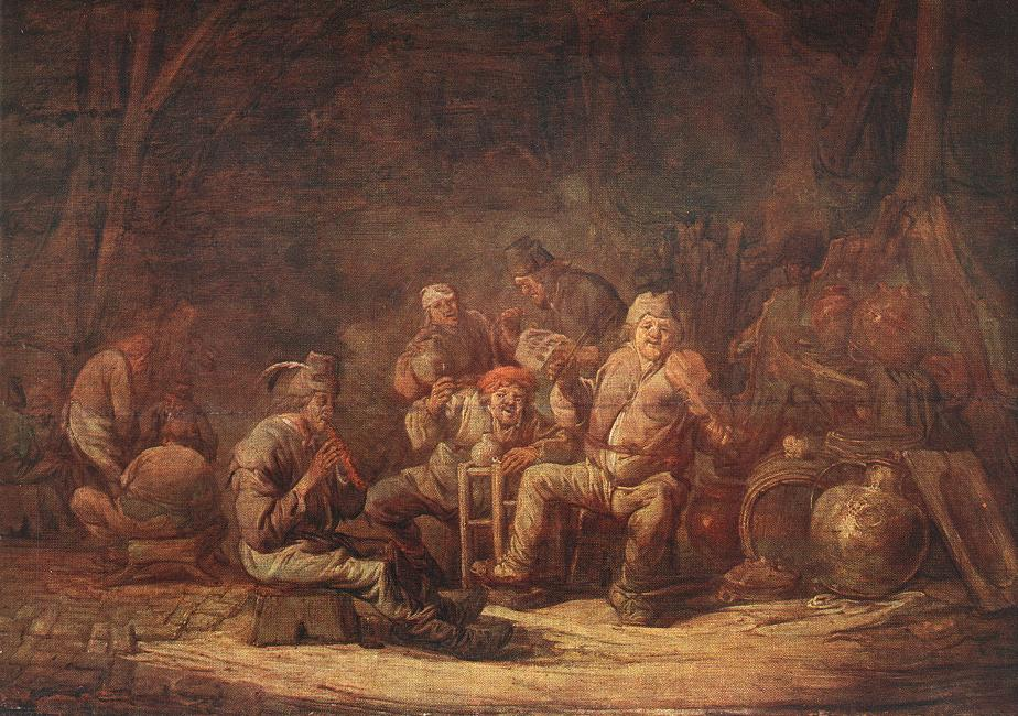 Peasants in the Tavern | Benjamin Gerritsz Cuyp | oil painting