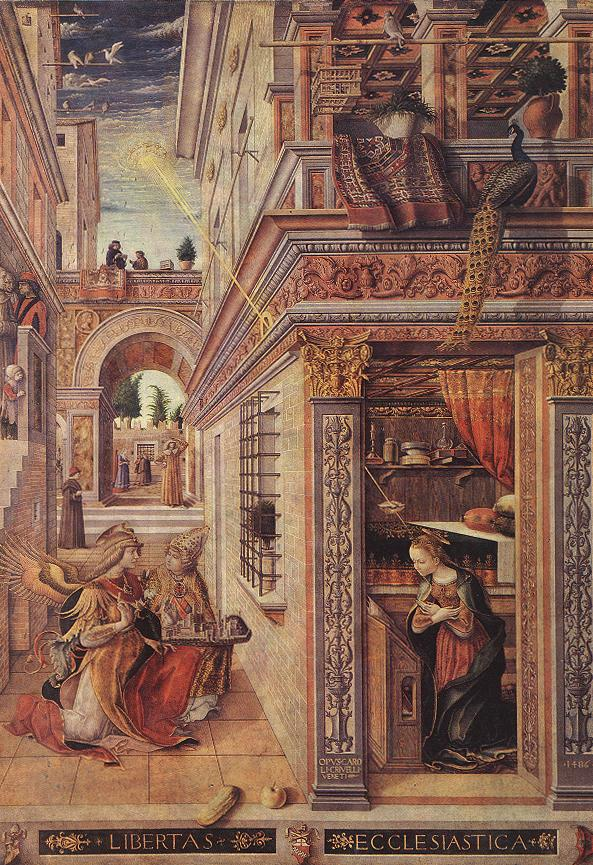 Annunciation with St Emidius 1486 | Carlo Crivelli | oil painting