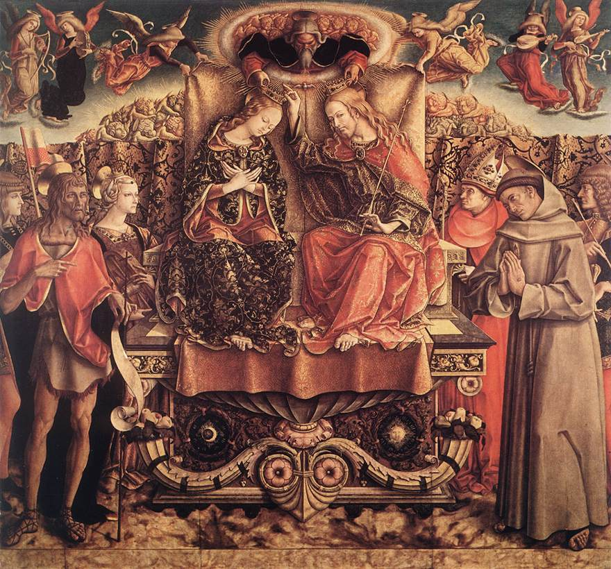 Coronation of the Virgin 1493 | Carlo Crivelli | oil painting
