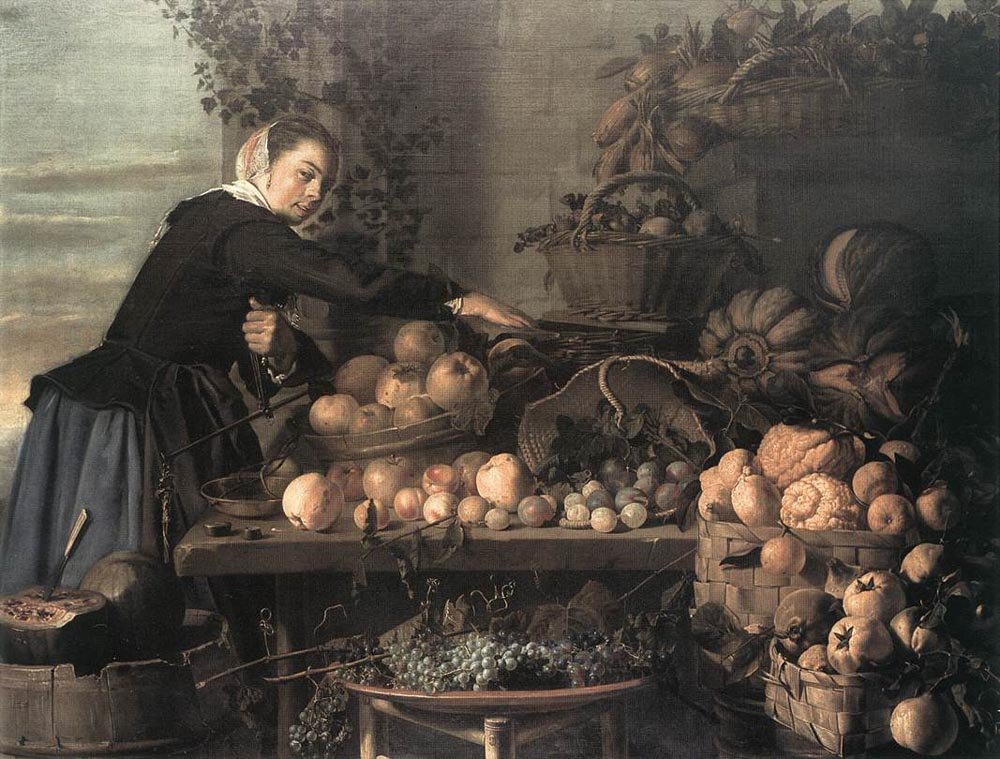 Fruit and Vegetable Seller 1630 | Claes van Heussen | oil painting