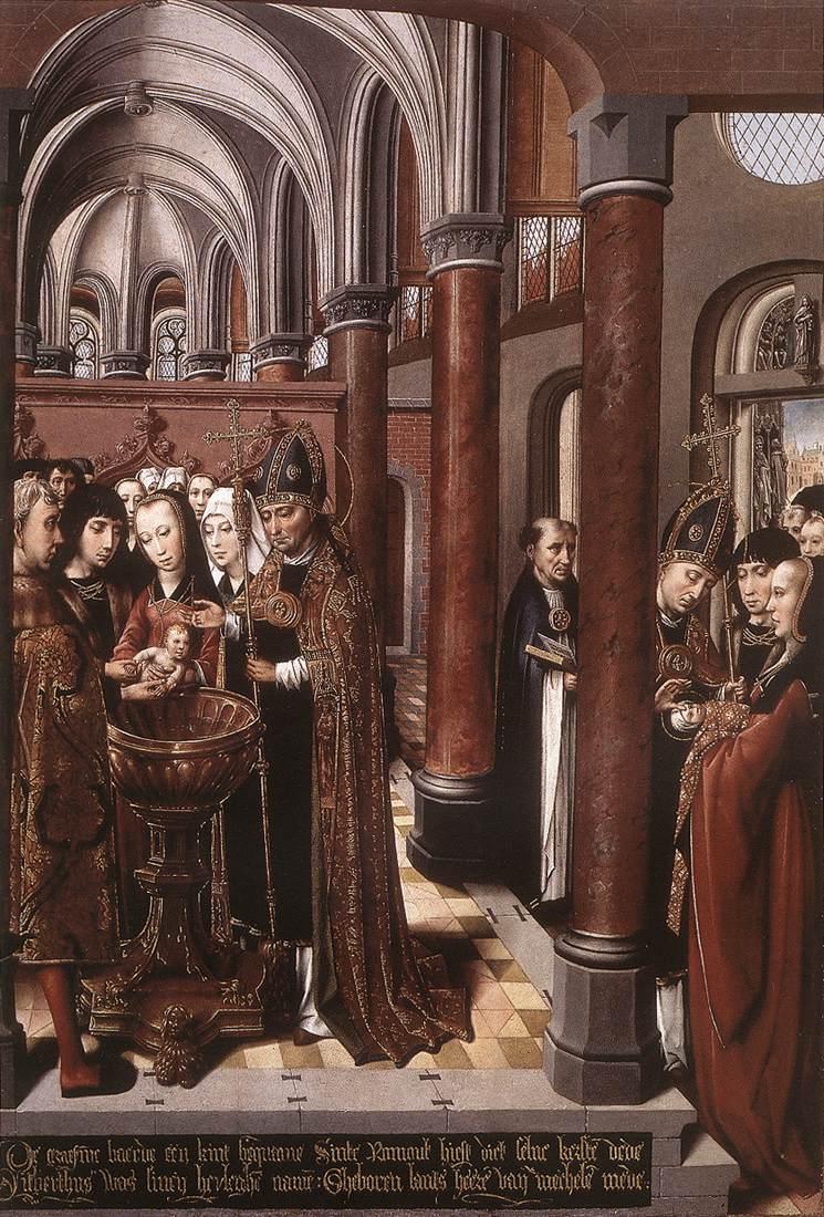 Baptism of St Libertus 1490 | Colijn de Coter | oil painting