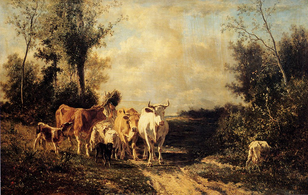 Returning From Pasture | Constant Troyon | oil painting