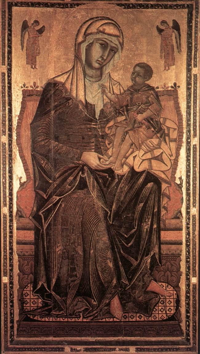 Madonna del Bordone 1261 | Coppo Di Marcovaldo | oil painting