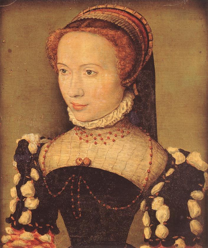 Portrait of Gabrielle de Rochechouart 1574 | Corneille De Lyon | oil painting