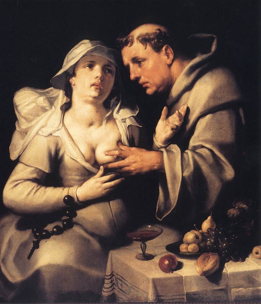 The Monk and the Nun 1591 | Cornelis Cornelisz. Van Haarlem | oil painting