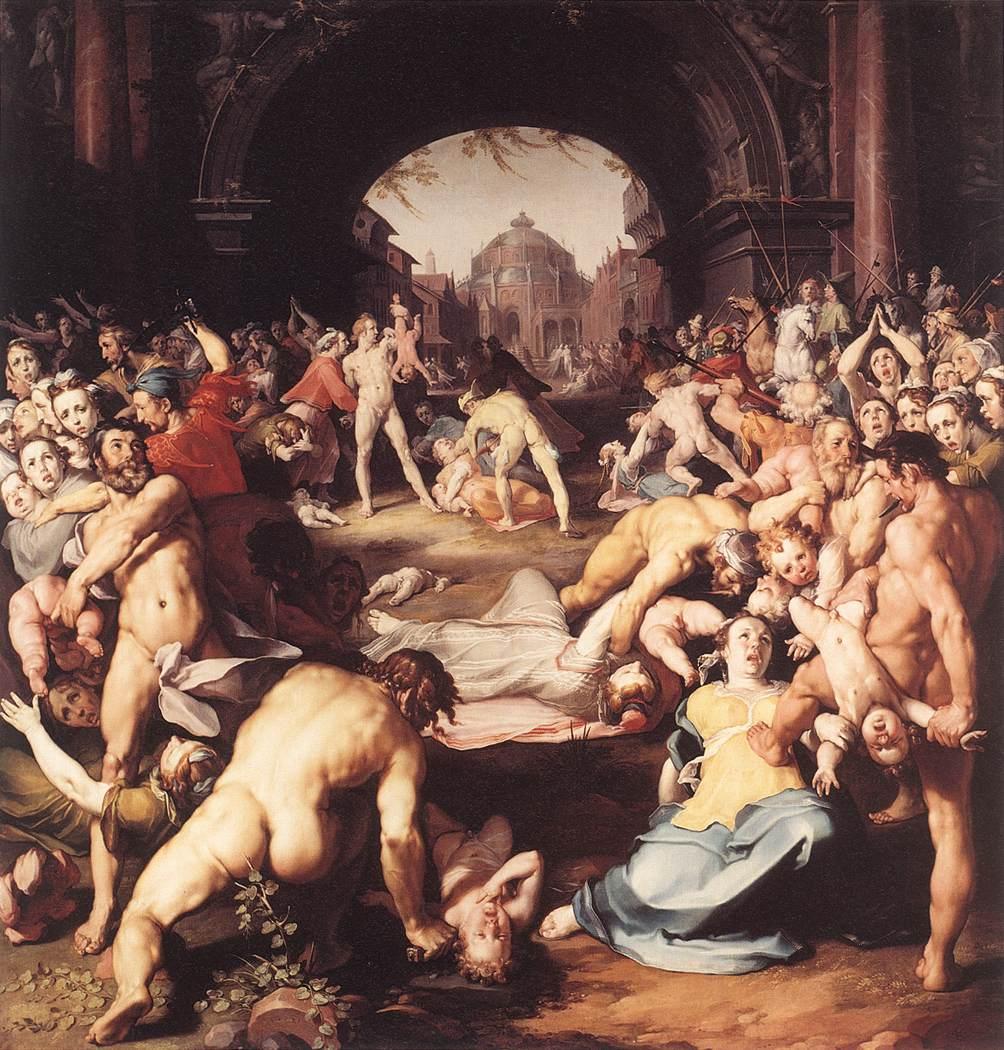 Massacre of the Innocents 1591 | Cornelis Cornelisz. Van Haarlem | oil painting