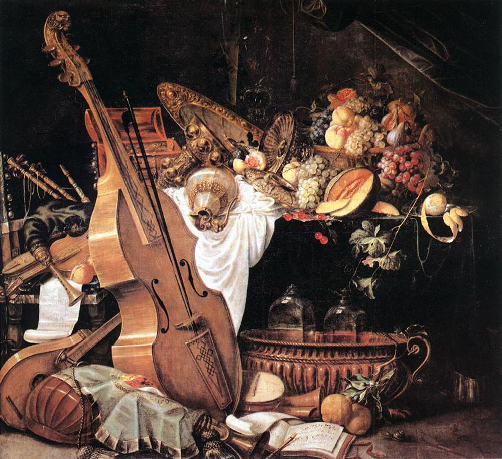 Vanitas Still Life with Musical Instruments 1661 | Cornelis de Heem | oil painting