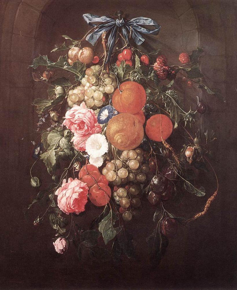 Still Life with Flowers 1660 | Cornelis de Heem | oil painting