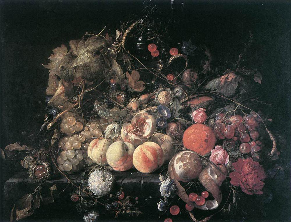Still Life with Flowers and Fruit | Cornelis de Heem | oil painting