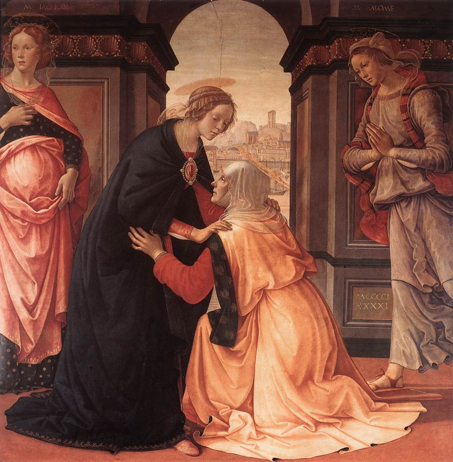 Visitation 1491 | Domenico Ghirlandaio | oil painting