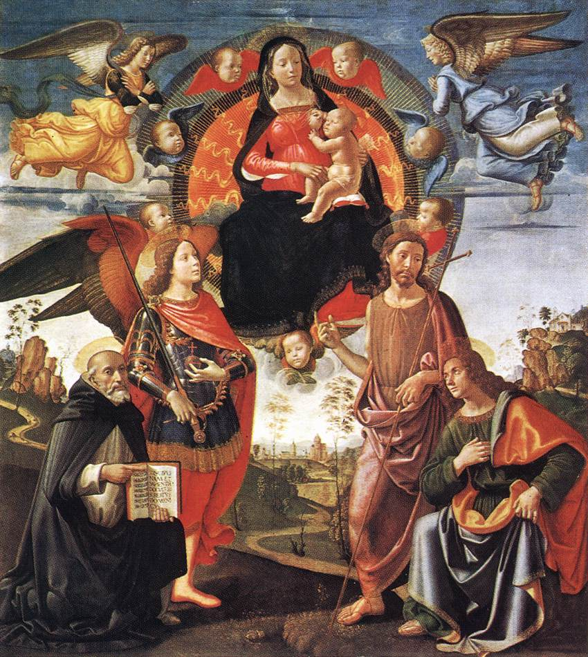 Madonna in Glory with Saints 1490 1496 | Domenico Ghirlandaio | oil painting