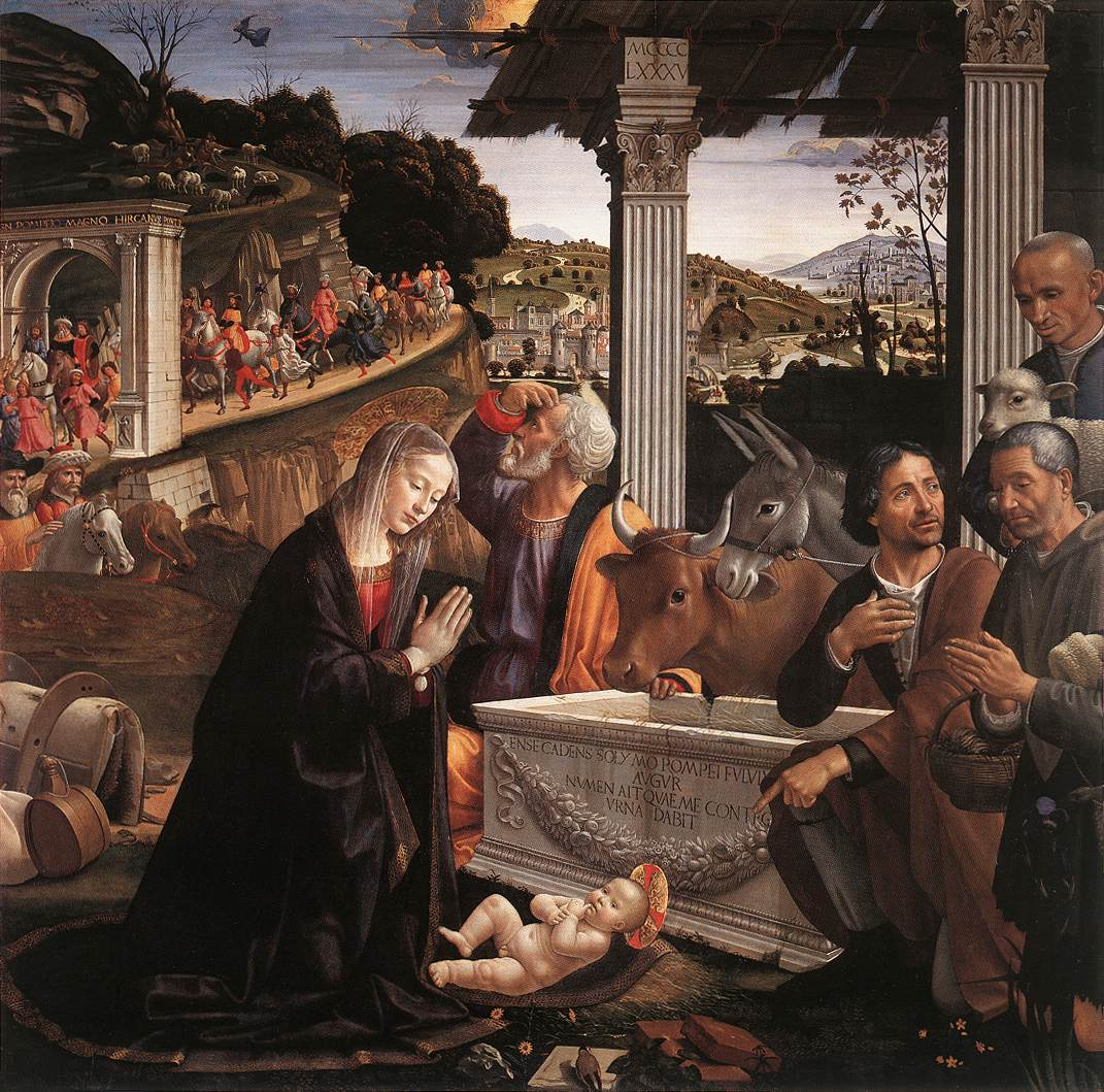 Adoration of the Shepherds 1482 1485 | Domenico Ghirlandaio | oil painting