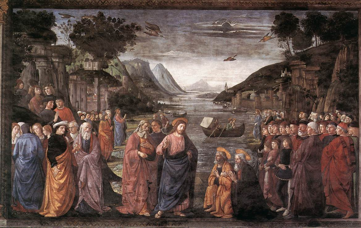 Calling of the First Apostles 1481 | Domenico Ghirlandaio | oil painting