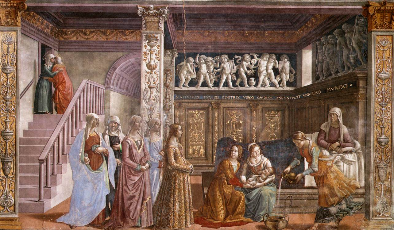 Birth of Mary 1486 1490 | Domenico Ghirlandaio | oil painting