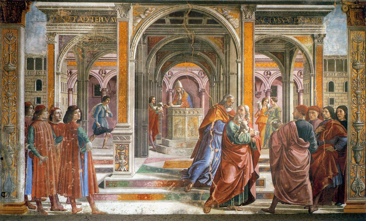 Expulsion of Joachim from the Temple 1486 1490 | Domenico Ghirlandaio | oil painting