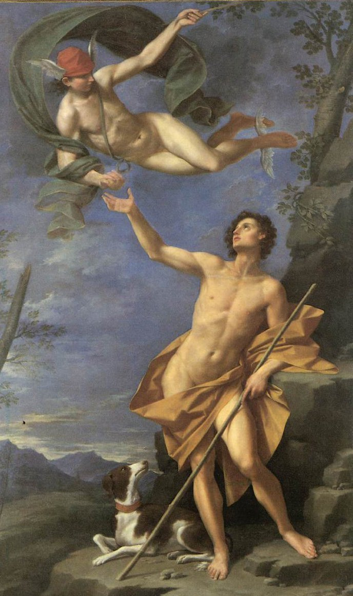 Mercury and Paris 1745 | Donato Creti | oil painting