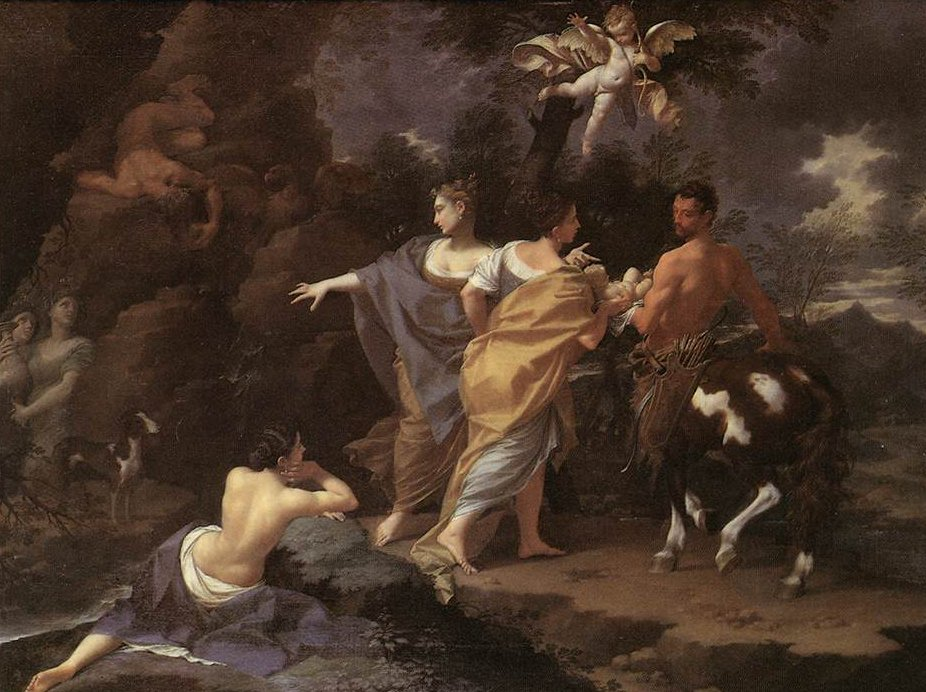 Achilles Handing over to Chiron | Donato Creti | oil painting