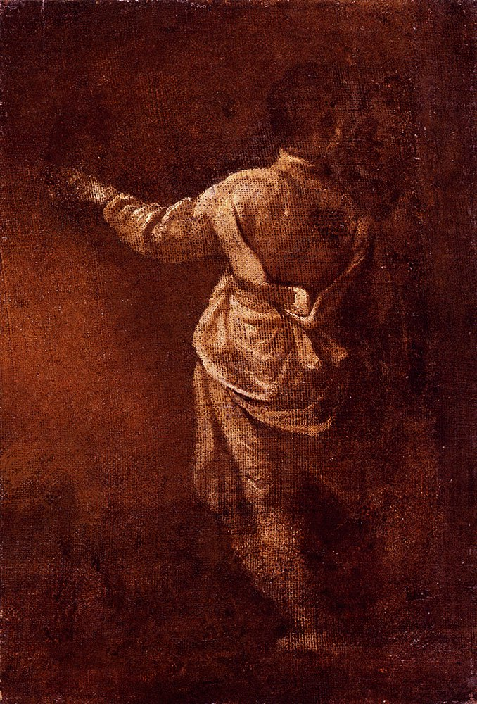 Study Of A Young Boy Seen From Behind   Donato Creti   oil painting