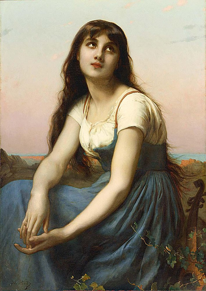 A Young Beauty | Etienne Adolphe Piot | oil painting