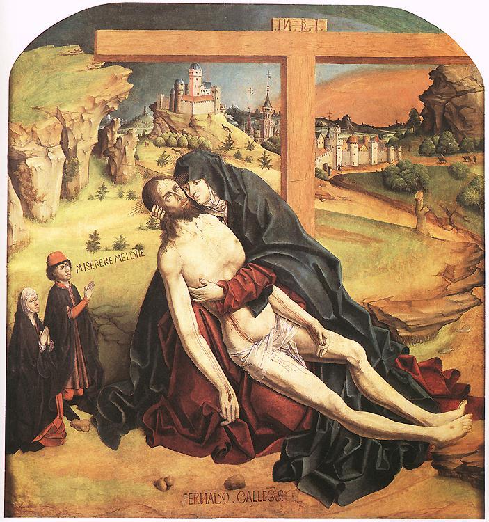 Pieta 1470 | Fernando Gallego | oil painting
