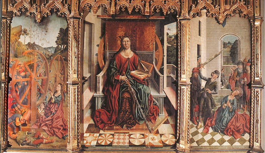 Triptych of St Catherine | Fernando Gallego | oil painting