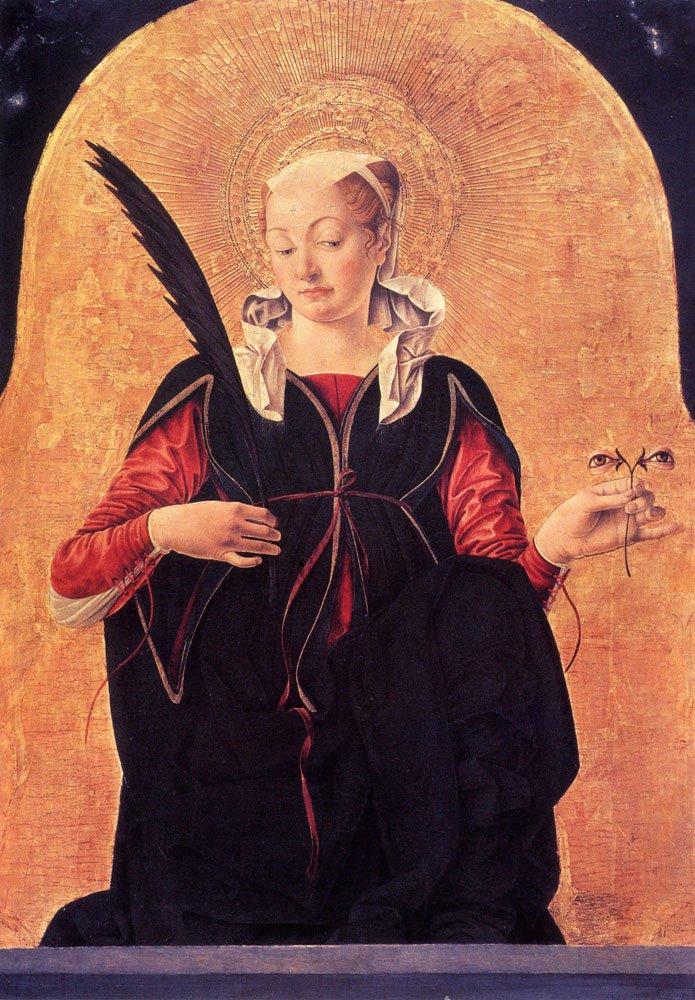St Lucy 1470 | Francesco del Cossa | oil painting