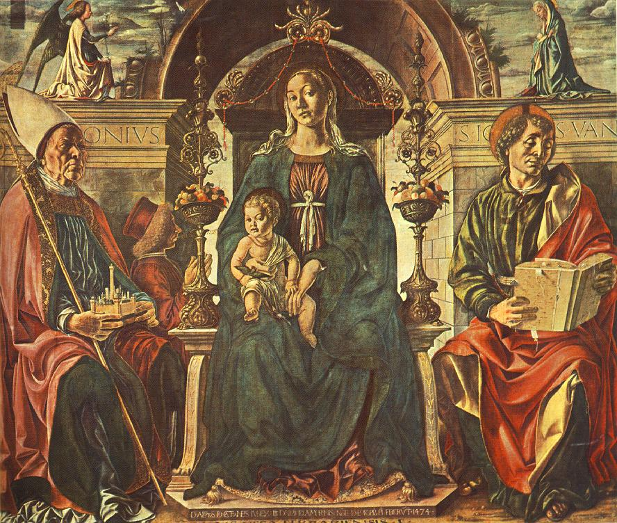 Madonna with the Child and Saints 1474 | Francesco del Cossa | oil painting