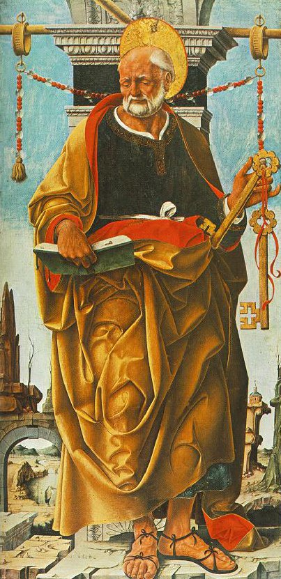 St Peter and St John the Baptist 1473 | Francesco del Cossa | oil painting