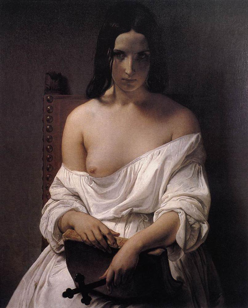 Meditation on the History of Italy 1850 | Francesco Hayez | oil painting