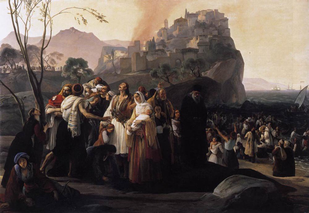 The Refugees of Parga 1831 | Francesco Hayez | oil painting