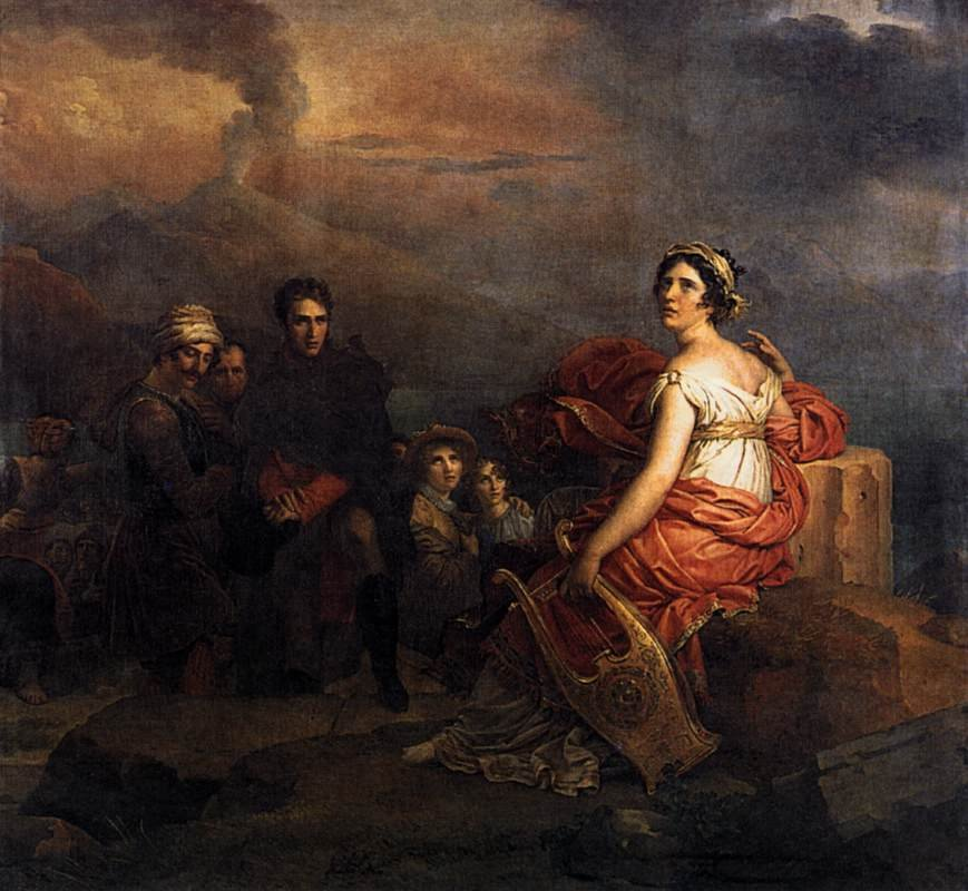Corinne at Cape Miseno 1819 | Francis Gerard | oil painting