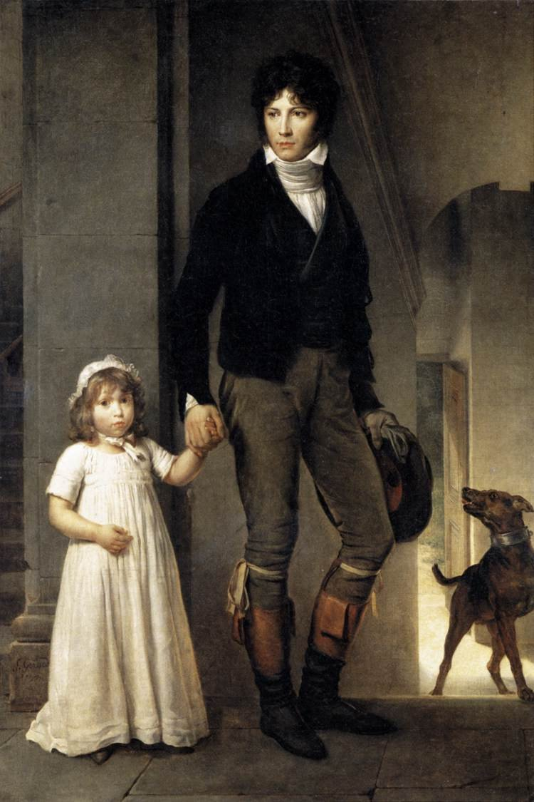 Jean Baptist Isabey Miniaturist with his Daughter 1795 | Francis Gerard | oil painting