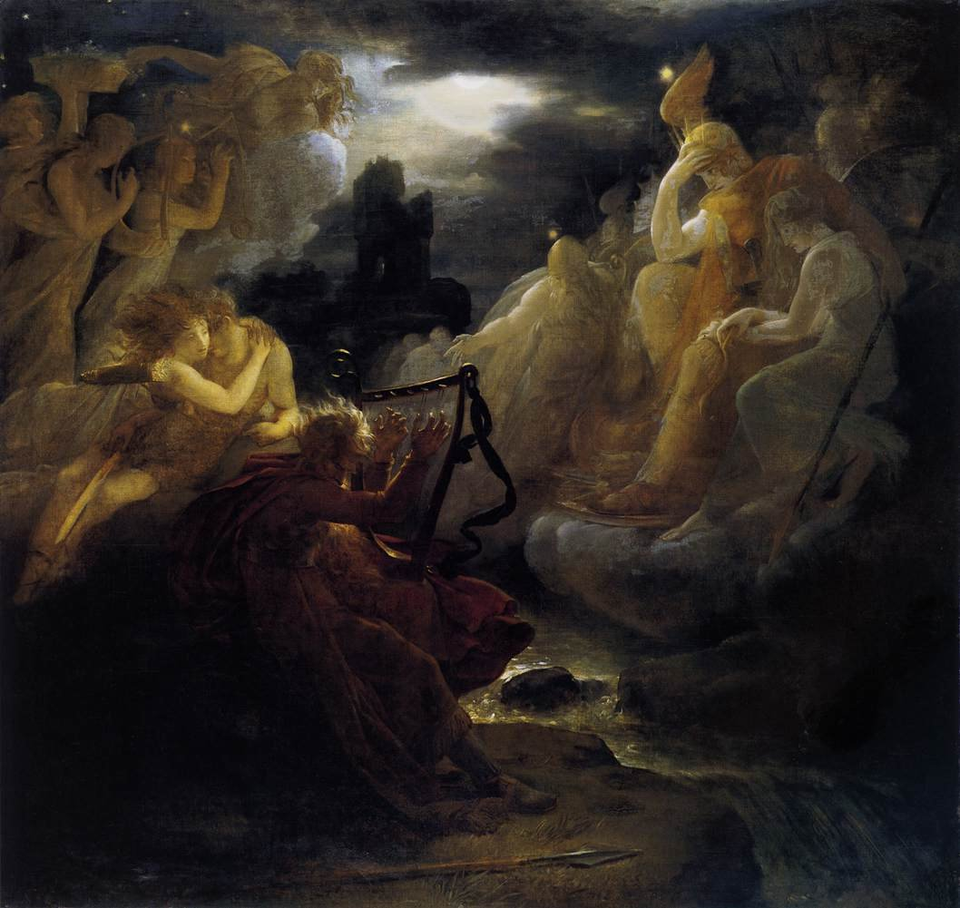 Ossian Awakening the Spirits on the Banks of the Lora with the Sound of his Harp 1801 | FranCis Gerard | oil painting
