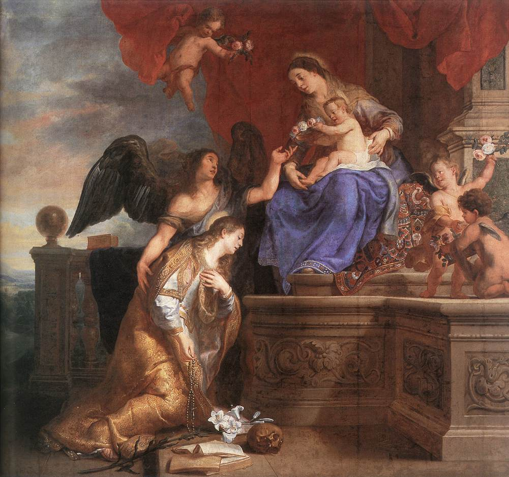 The Coronation of St Rosalie | Gaspard de Crayer | oil painting