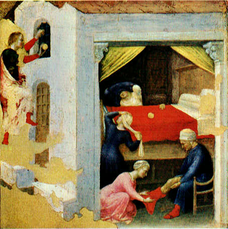 Quaratesi Altarpiece St Nicholas and three poor maiden 1425 | Gentile da Fabriano | oil painting