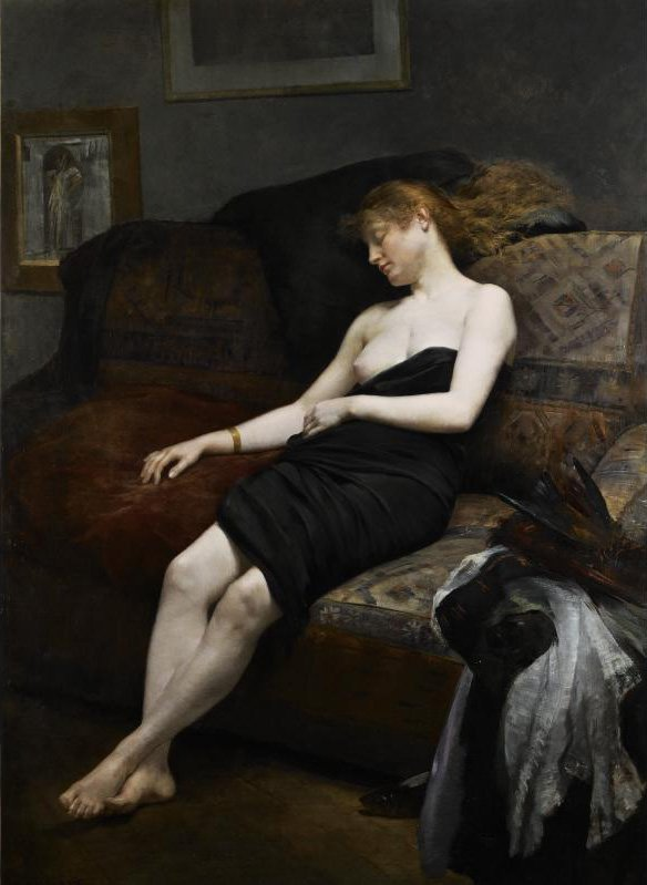 Asleep in the Studio 1889 | Georges Roussin | oil painting