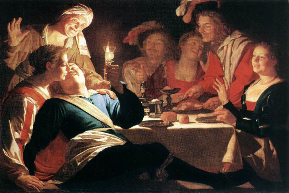 The Prodigal Son 1622 | Gerrit van Honthorst | oil painting