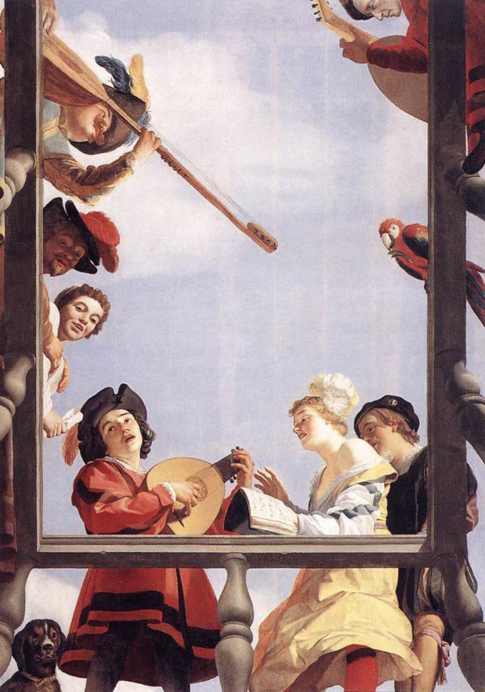 Musical Group on a Balcony 1622 | Gerrit van Honthorst | oil painting