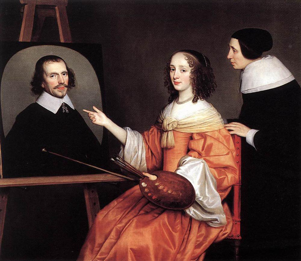 Margareta Maria de Roodere and Her Parents 1652 | Gerrit van Honthorst | oil painting
