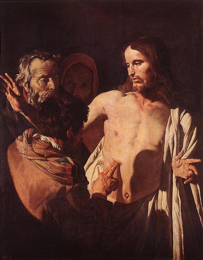 The Incredulity of St Thomas 1620 | Gerrit van Honthorst | oil painting