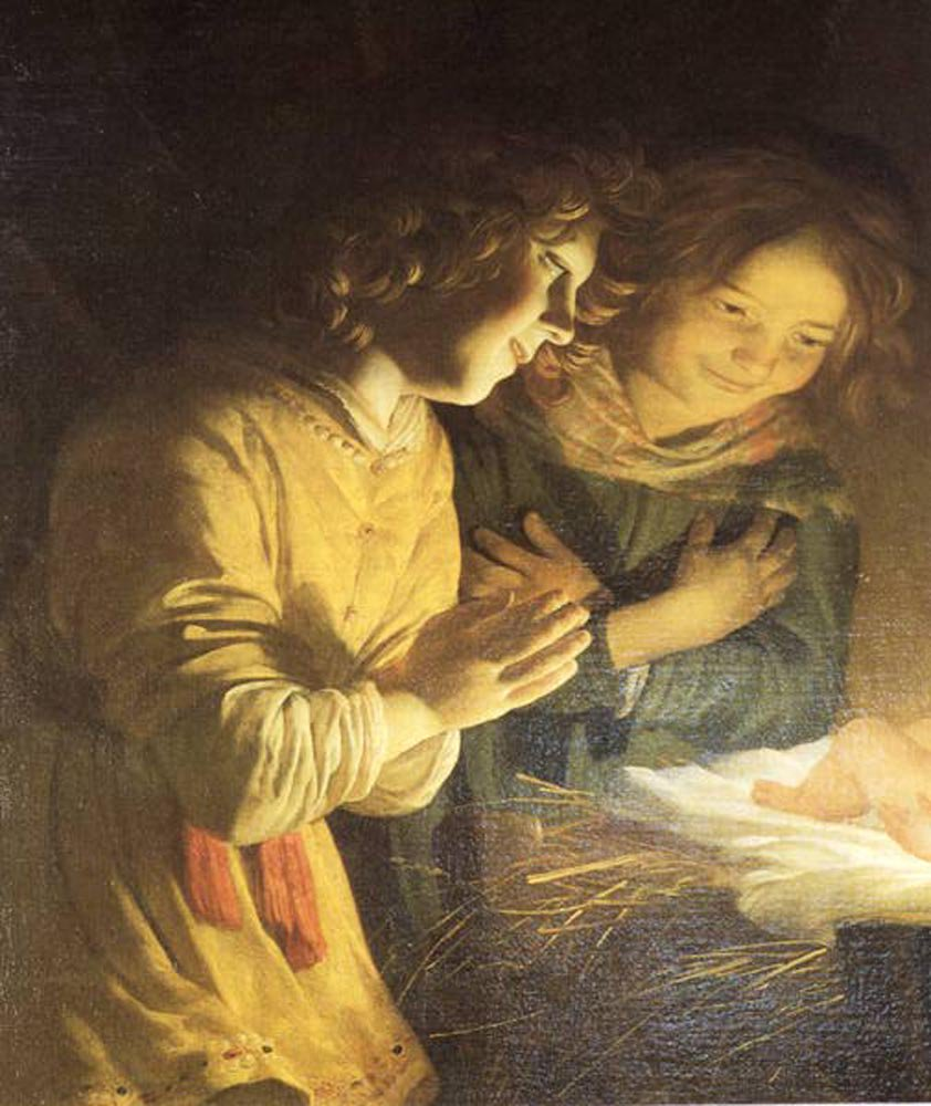 Adoration of the Child 1620 | Gerrit van Honthorst | oil painting